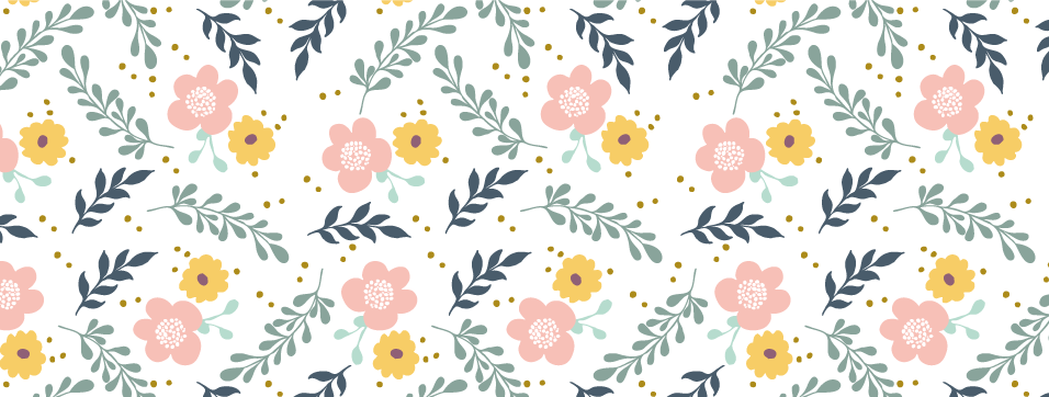 motif, illustrator, couronne de fleurs, mes jolis moments